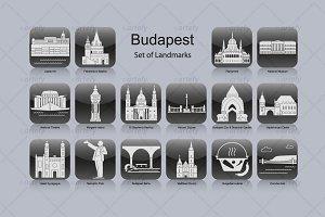 Budapest landmark icons (16x)