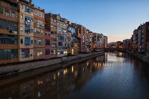 City of Girona at Twilight
