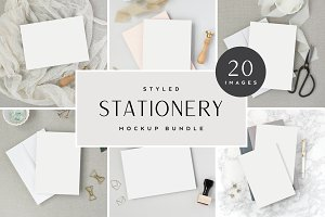 Neutral Stationery Mockup Bundle