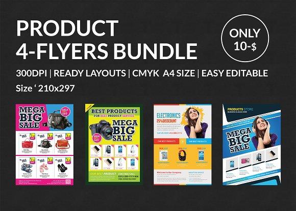 Product Promotion Flyer Bundle Flyer Templates Creative Market
