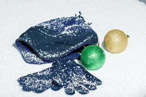 Cap gloves and decorations