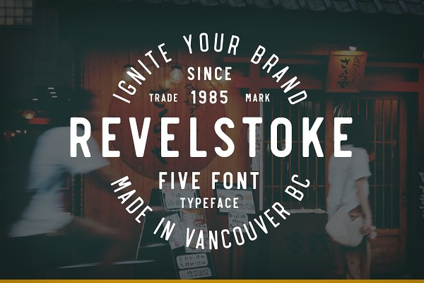 Revelstoke - 5 Font Family