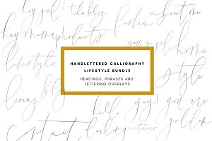 Lettering Overlays- Blog Calligraphy
