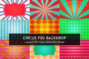 Circus PSD Backdrop