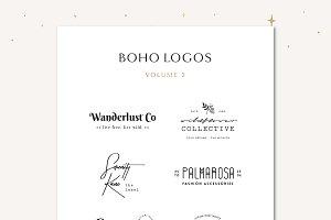 Boho Logo Templates Vol. 2