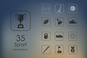 35 sport icons