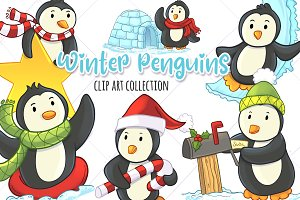 Winter Penguins Collection
