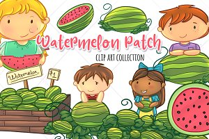 Summer Watermelon Clip Art