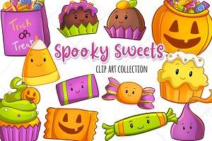 Spooky Sweets Halloween Clip Art