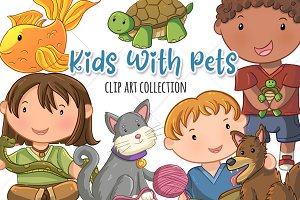 Cute Kids and Pets Collection