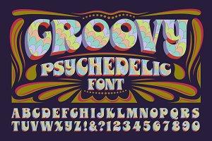 Groovy Psychedelic Alphabet