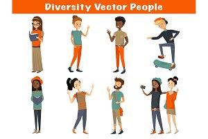 Diverse Vector Cartoon People