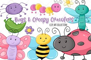 Bugs and Creepy Crawlers Clip Art