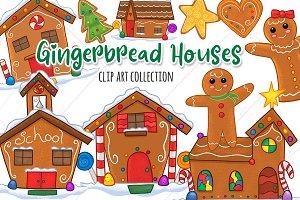 Gingerbread Houses Clip Art