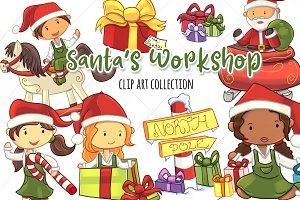 Santa's Workshop Clip Art