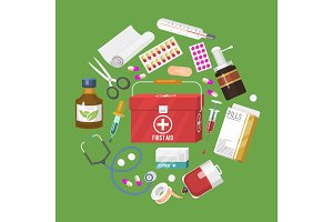 Medical instrument banner, poster