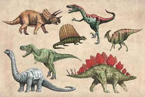 Dinosaurs Watercolour Pack Clipart