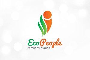 Eco People Logo Template