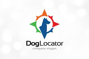 Dog Point or Locator Logo Template