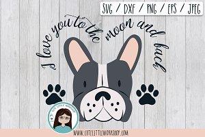 Boston Terrier grey svg