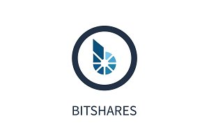 Bitshares Cryptocurrency Icon Vector