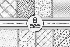 Modern linear seamless patterns