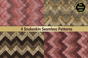 Snakeskin Seamless Patterns Set