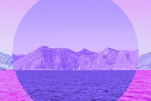 Sea and Mountains. Infrared