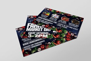 Farmer Market Day PostCard