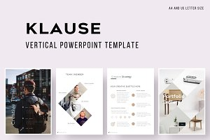 KLAUSE Vertical PowerPoint Template