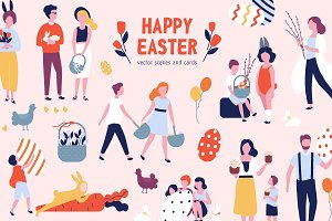 Easter scenes and cards