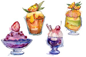 Dessert Watercolor png