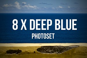 8 x Deep Blue Photoset