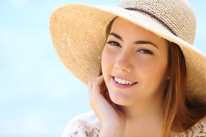 Portrait of a beautiful woman face in summer.jpg