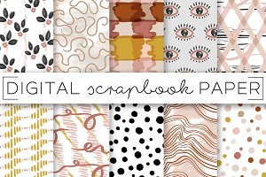 Abstract Neutrals Painterly Prints