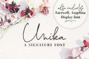 Unika Lite | a signature font