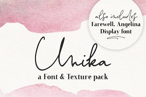 Unika | a font and texture pack
