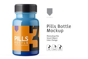 Pills Bottle Mockup 3