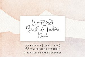 Watercolor Brush & Texture Pack