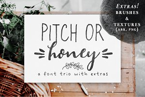Pitch or Honey | a font trio