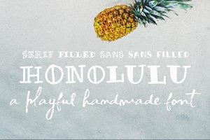 Honolulu   a handmade font
