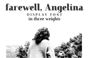 Farewell Angelina Display font