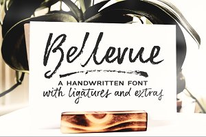 Bellevue | brush font & textures