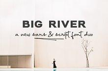 Big River | a font duo
