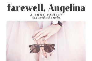 Farewell Angelina | a font family
