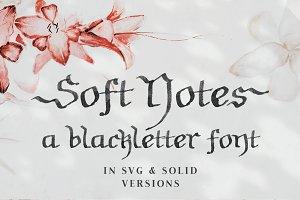 Soft Notes   SVG font