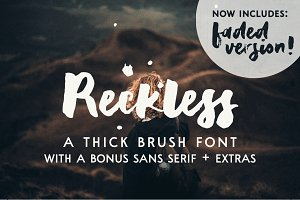 Reckless | a brush font