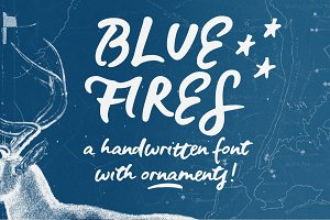 Blue Fires | a handwritten font
