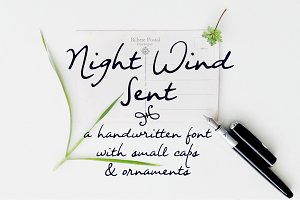 Night Wind Sent | handwritten font