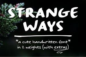 Strangeways   a handwritten font